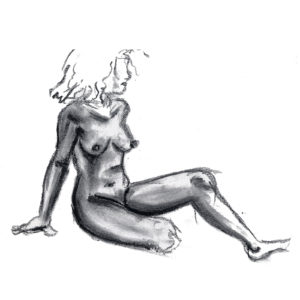 Life Drawing Female Charcoal Beazie the Artist