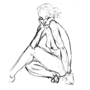 Life Drawing of Woman Pencil Beazie the Artist