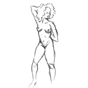 Life Drawing of Women Pencil Beazie the Artist